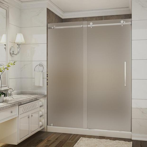 Frosted Shower Door Home Design Ideas