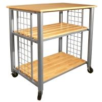 Catskill Craftsmen Contemporary Natural Kitchen Cart With ...