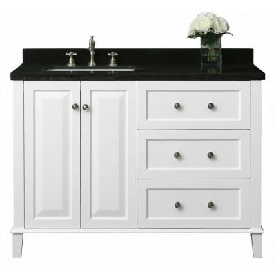 Black Sink On Left Side 48 Inch Vanities Bathroom Vanities Bath The Home Depot