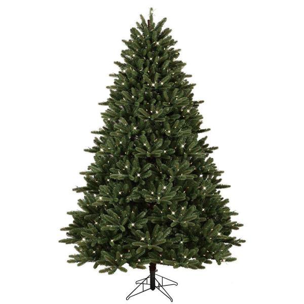 Ge 7.5 Ft. Pre-lit Led Cut Frasier Fir Artificial Christmas Tree With Ez Light Technology