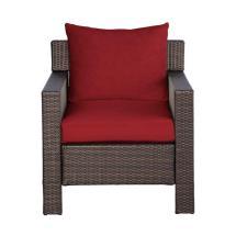 Hampton Bay Beverly Patio Deep Seating Lounge Chair With