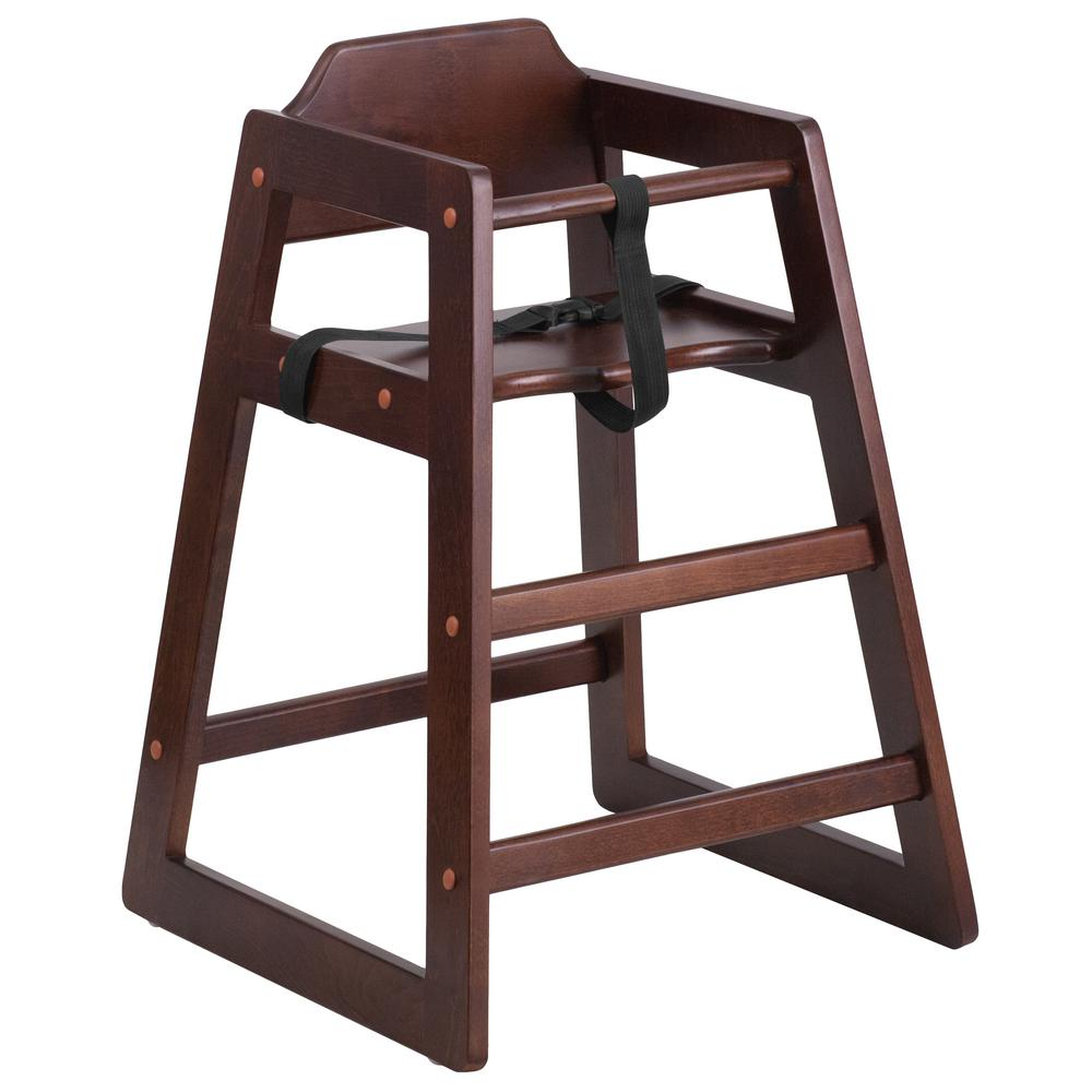 bar stool baby high chair reclining outdoor flash furniture hercules series stackable walnut