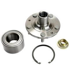 front wheel bearing and hub assembly fits 2006 2011 mercury milan [ 1000 x 1000 Pixel ]