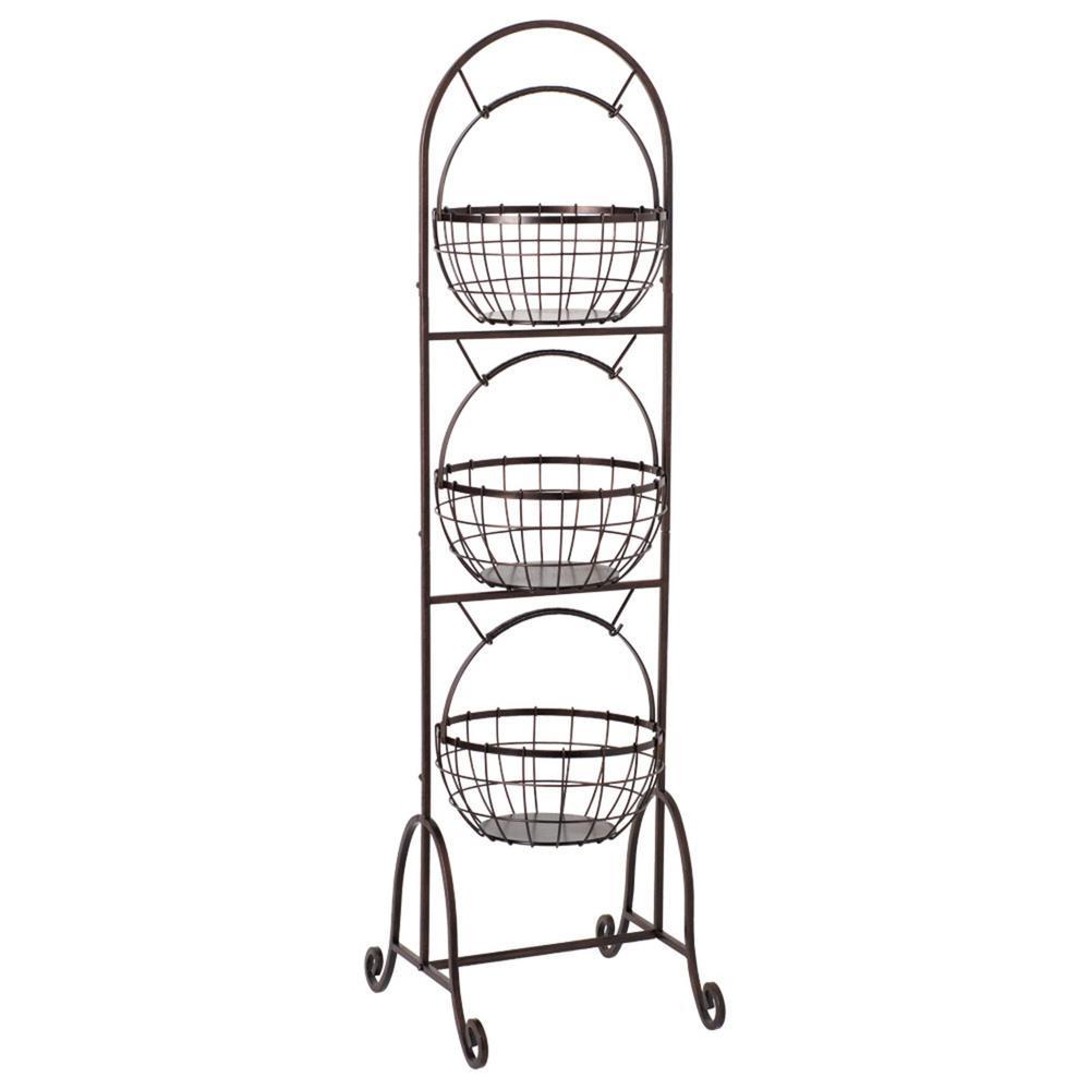 Gourmet Basics by Mikasa 3-Tier Wire Market Basket-5202605