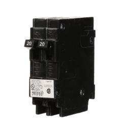 2 20 amp tandem single pole type qt ncl circuit breaker [ 1000 x 1000 Pixel ]