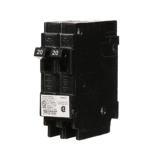 small resolution of  2 20 amp tandem single pole type qt ncl circuit breaker