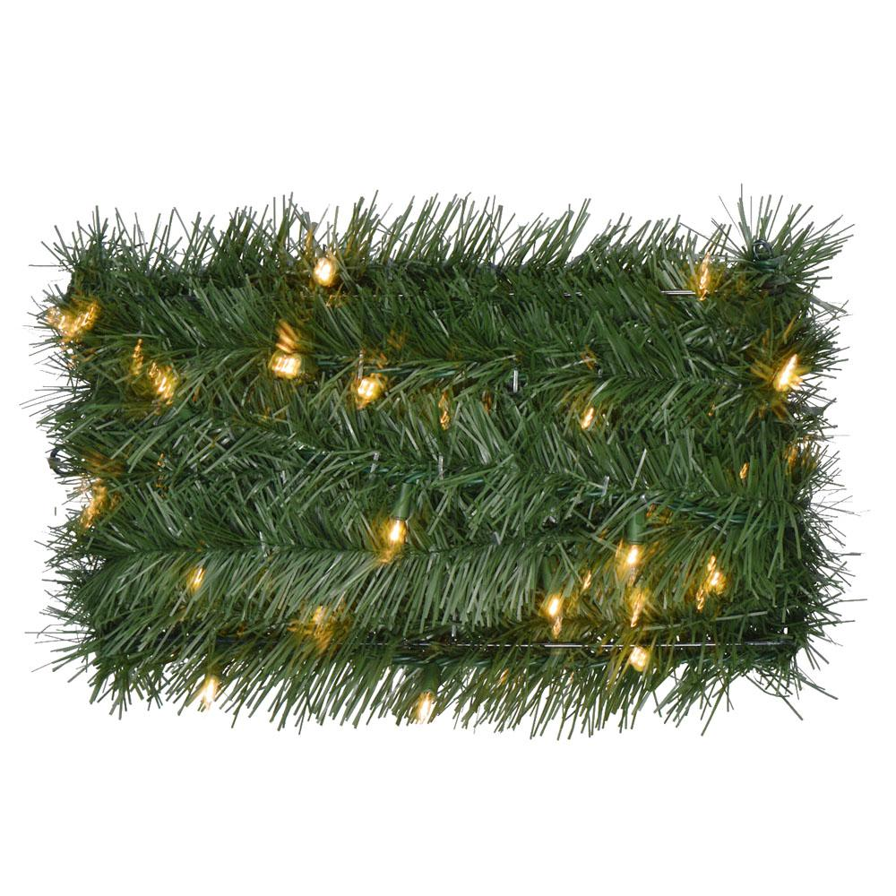 medium resolution of pre lit artificial christmas rope garland with 100 clear lights