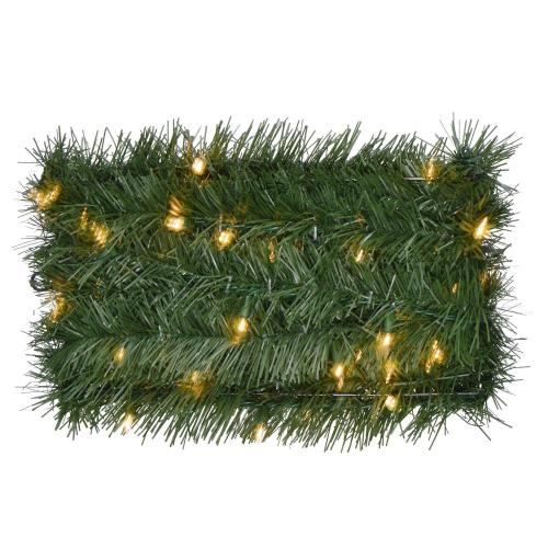 small resolution of pre lit artificial christmas rope garland with 100 clear lights