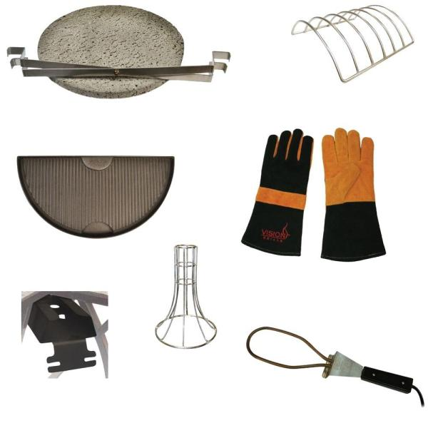 Vision Grills Kamado Grill Accessory Pack 8-piece -vgk-acp2 - Home Depot