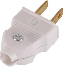 ge 15 amp quick wire plug white 2 pack  [ 1000 x 1000 Pixel ]