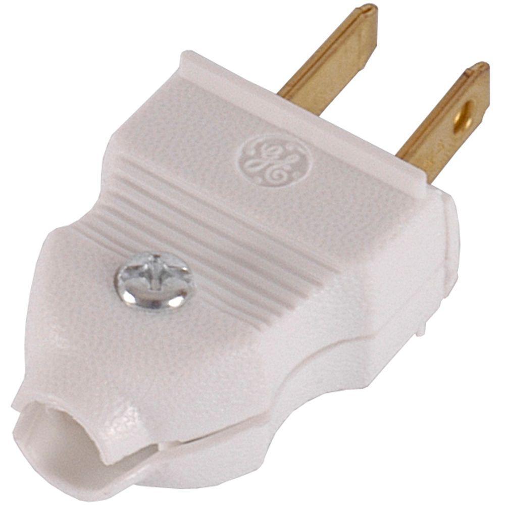 medium resolution of ge 15 amp quick wire plug white 2 pack