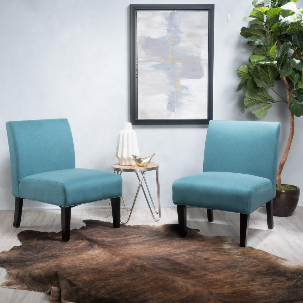 dark teal accent chair kids saucer chairs noble house kassi fabric set of 2 299757