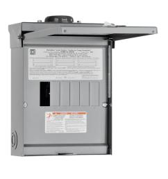 square d homeline 100 amp 6 space 12 circuit outdoor main lug load center [ 1000 x 1000 Pixel ]