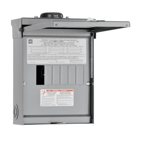 small resolution of square d homeline 100 amp 6 space 12 circuit outdoor main lug load center
