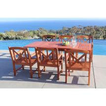 Vifah Malibu 7-piece Patio Dining Set-v1564set9 - Home