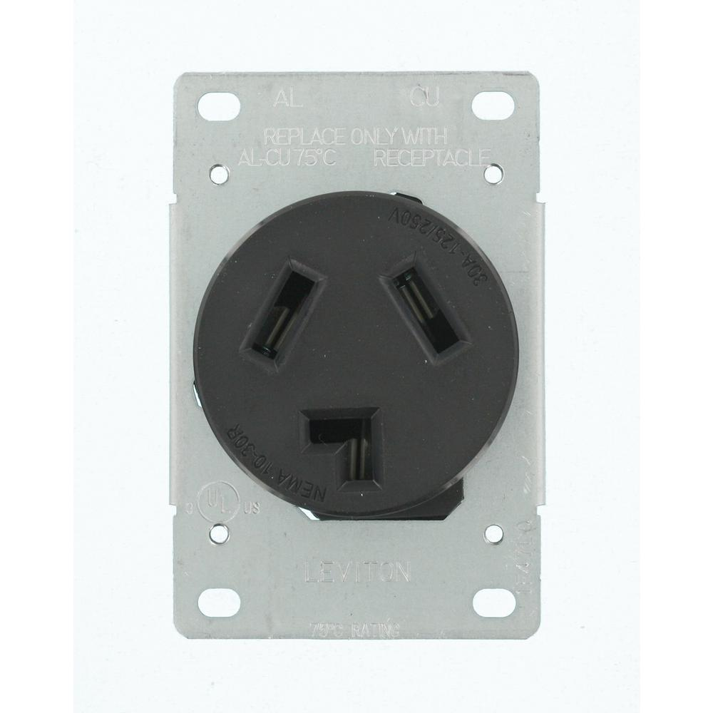 medium resolution of leviton 30 amp 125 volt 250 volt shallow single flush mounted outlet hace a problem wiring a leviton 30 amp dryer receptical