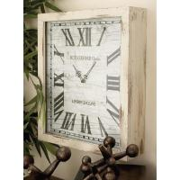 Distressed White Wooden Wall Clock-48536 - The Home Depot