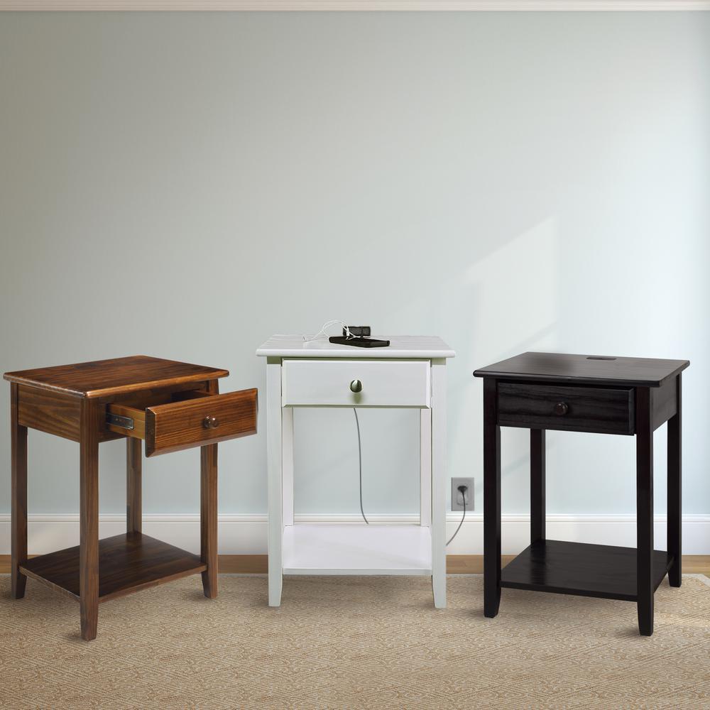 nightstand bedside end table modern 24