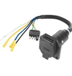 reese towpower pre wired 7 way blade connector 7418411 reese trailer brake wiring reese 4 wire [ 1000 x 1000 Pixel ]