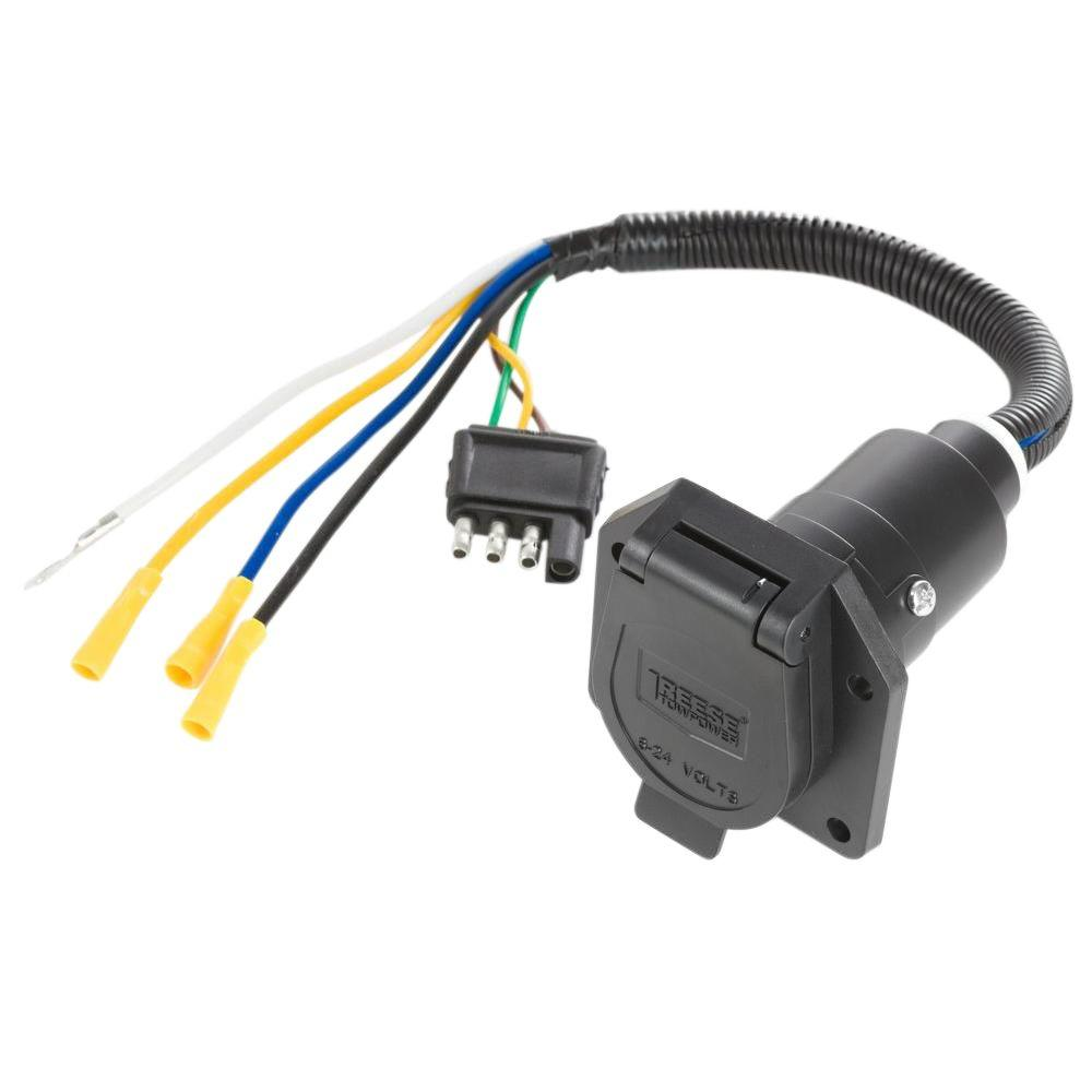 hight resolution of reese towpower pre wired 7 way blade connector 7418411 reese trailer brake wiring reese 4 wire