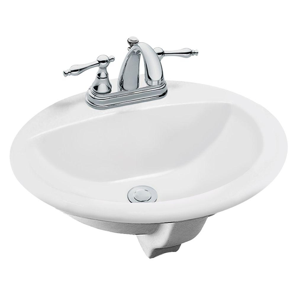 Glacier Bay Aragon SelfRimming DropIn Bathroom Sink in White1300124WHD  The Home Depot
