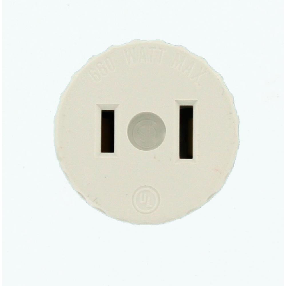 medium resolution of leviton 660 watt lamp holder to outlet adapter white