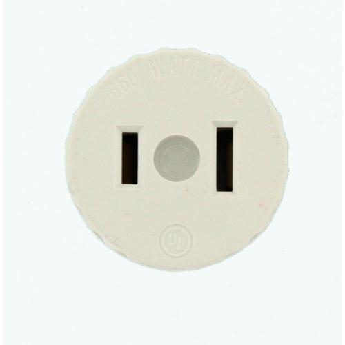 small resolution of leviton 660 watt lamp holder to outlet adapter white
