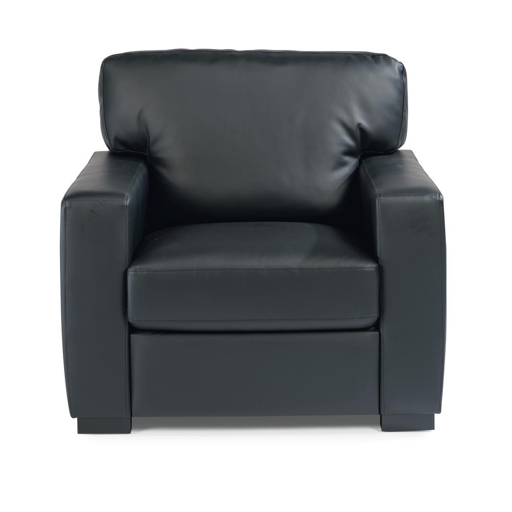 black leather club chair and ottoman air mattress bed home styles alex faux 5220 100