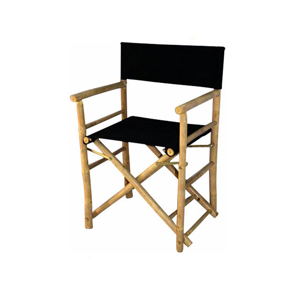Bamboo Chairs Mgp 19 In L 23 In W 35 In H Bamboo Director Chairs Black Canvas Set Of 2