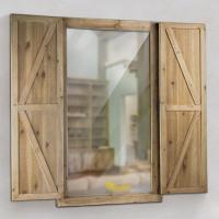 Crystal Art Gallery Shuttered Wall Mirror with Rustic
