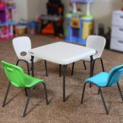 Lifetime Chairs And Tables Video Game Chair Walmart Almond Stacking Kids Set Of 13 80385 The Home Depot 4