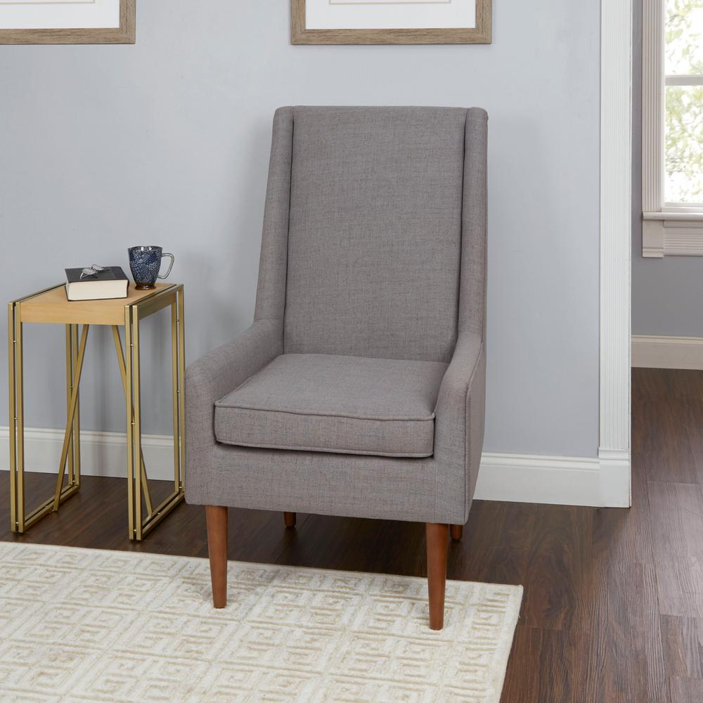 Mid Century Modern Accent Chair Silverwood Furniture Reimagined Nelson Light Grey High Back Mid