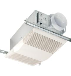 nutone heat a vent 70 cfm ceiling bathroom exhaust fan with 1300 watt [ 1000 x 1000 Pixel ]