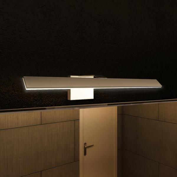 modern led bathroom lighting VONN Lighting Wezen Collection 21 in. Silver/Nickel Low-Profile Modern LED Vanity/Bath Bar Light