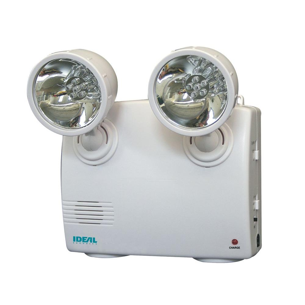 hight resolution of ideal security white 2 lamp blackout and power failure 6 led safety light
