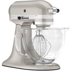 Silver Kitchen Aid Sink Refinishing Porcelain Kitchenaid Artisan Designer 5 Qt Sugar Pearl Stand Mixer Internet 206405184 3