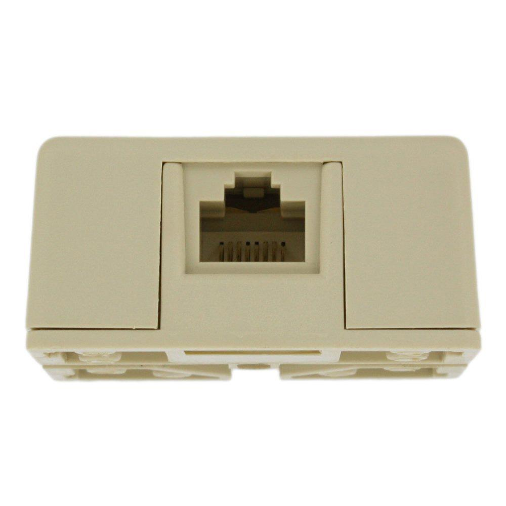 hight resolution of leviton 8p8c rj31x surface mount jack with shorting bar ivory