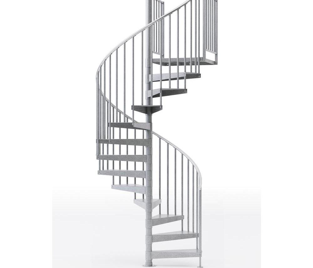 Mylen Stairs Reroute Galvanized Exterior Or Interior 60 Diameter   Outdoor Spiral Staircase Home Depot   Stair Parts   Stair Case   Steel Spiral   Stair Kit   Handrail