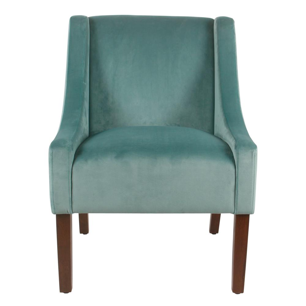 aqua accent chair toddler plastic chairs homepop light velvet modern swoop arm k6908