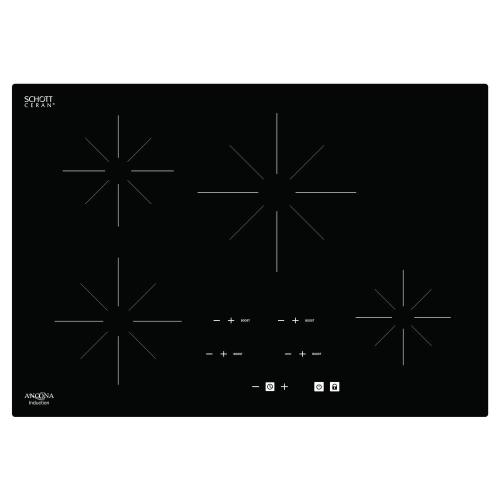 small resolution of glass ceramic induction cooktop in black with 4 elements