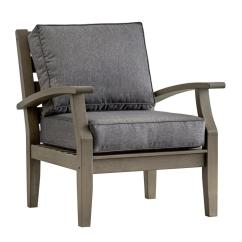 Wooden Lounge Chair Transport Cvs Homesullivan Verdon Gorge Gray Oiled Wood Outdoor Occasional With Cushion