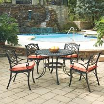 Home Styles Biscayne Black 5-piece Cast Aluminum Outdoor