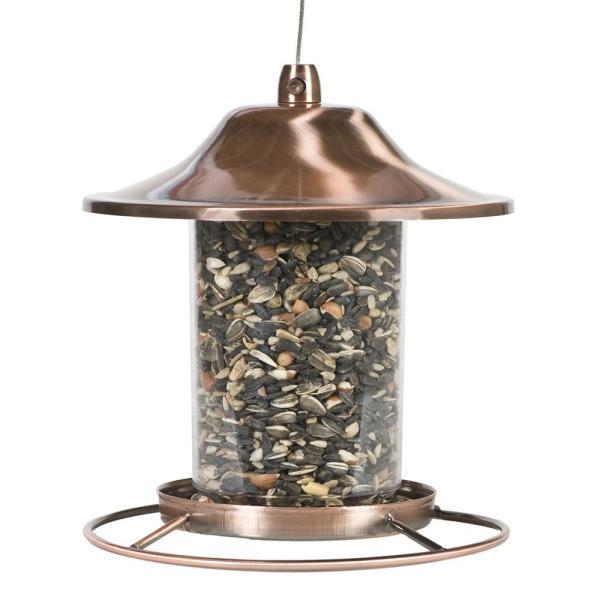 Perky-pet Copper Panorama Bird Feeder-312c - Home Depot