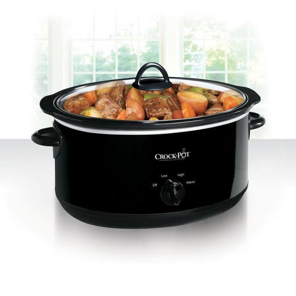 Crock-pot 8 Qt. Manual Slow Cooker In Black-scv800- - Home Depot
