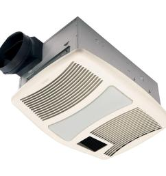 nutone qt series very quiet 110 cfm ceiling bathroom exhaust fan with heater light and [ 1000 x 1000 Pixel ]