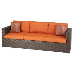 Bay Sofa Muuto Hampton Moreno Valley Patio With Sunbrella Canvas Rust Cushions