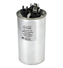 packard 440 volt 30 5 mfd dual rated motor run round capacitor [ 1000 x 1000 Pixel ]