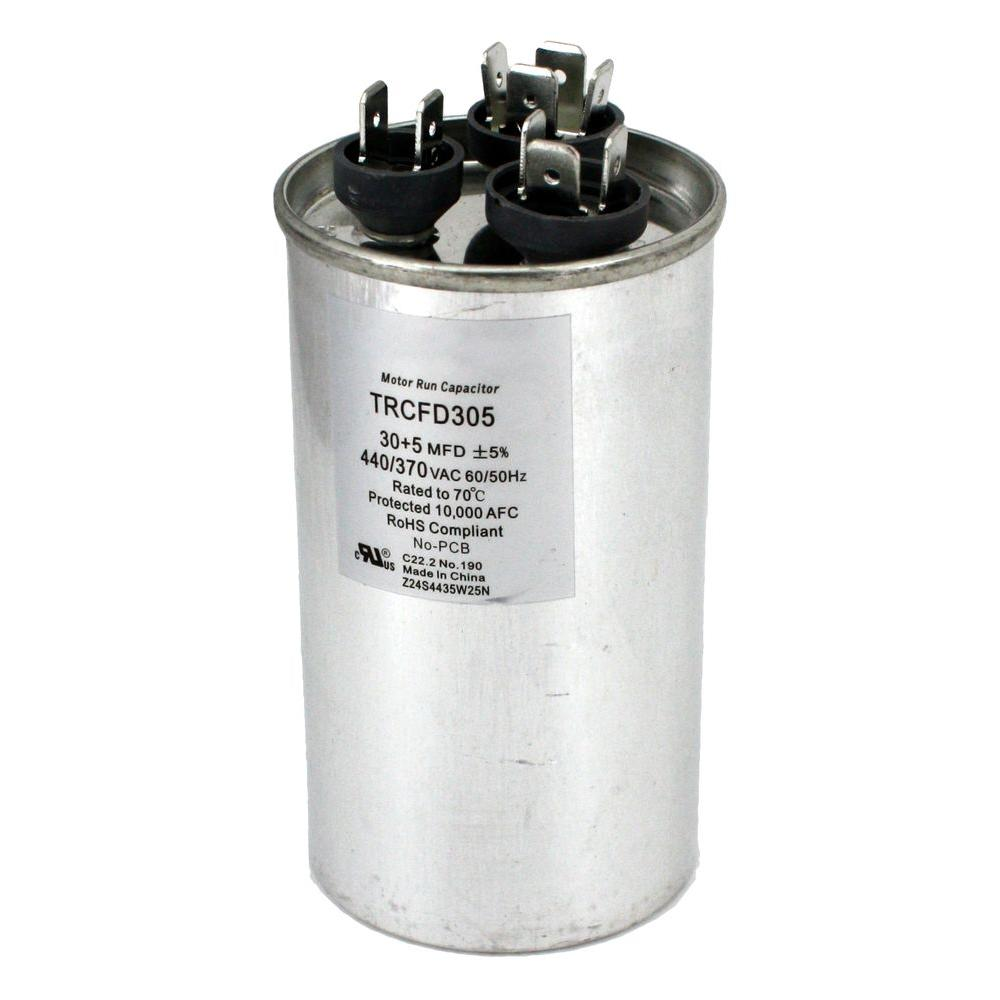 hight resolution of packard 440 volt 30 5 mfd dual rated motor run round capacitor