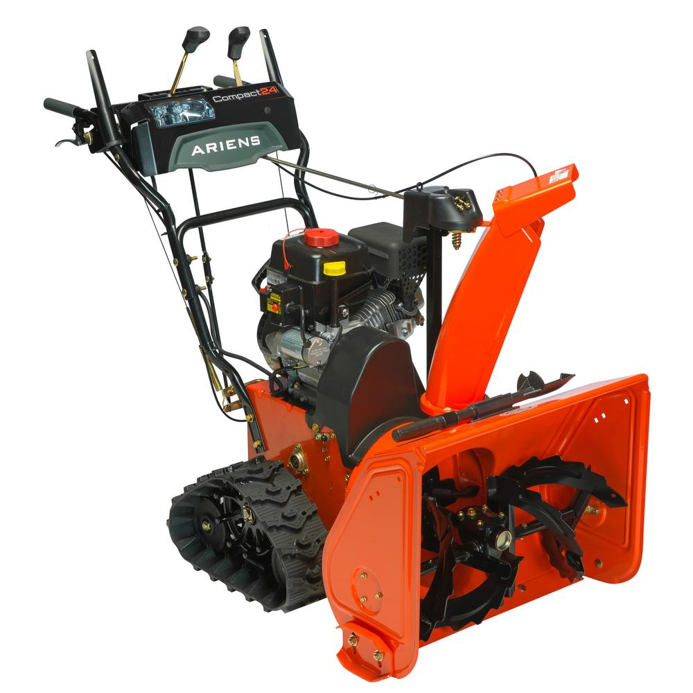 hight resolution of ariens compact track 24 in 2 stage electric start gas snow blower