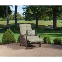 Hanover Ventura Reclining Wicker Outdoor Lounge Chair With